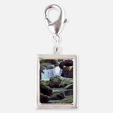 Great Smoky Mountain Stream Silver Portrait Charm