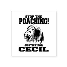 "Stop the Poaching Square Sticker 3"" x 3"""