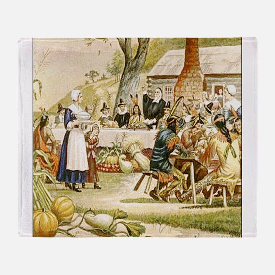 First Thanksgiving Throw Blanket