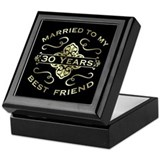 30th anniversary Square Keepsake Boxes
