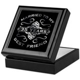 35th wedding anniversary Square Keepsake Boxes