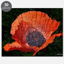 Red Porcelain Poppy Puzzle