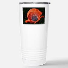 Red Porcelain Poppy Travel Mug