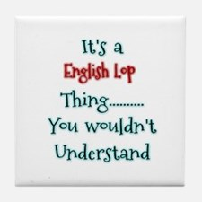English Lop Thing Tile Coaster
