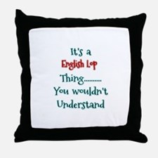 English Lop Thing Throw Pillow