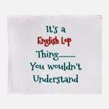 English Lop Thing Throw Blanket