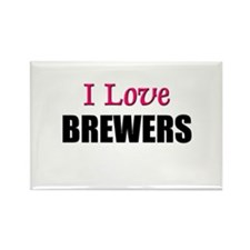 I Love BREWERS Rectangle Magnet