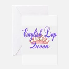 English Lop Queen Greeting Cards