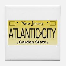 Atlantic City NJ Tag Giftware Tile Coaster