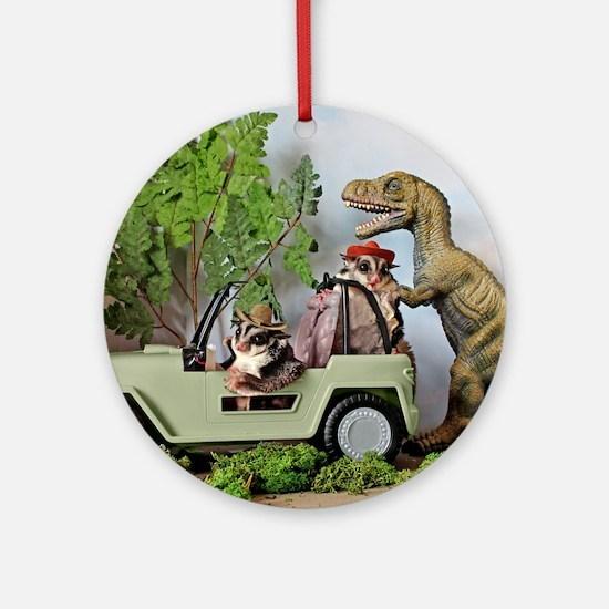 Cute Dinosaurs Round Ornament