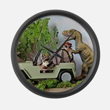 Unique Dinosaurs Large Wall Clock