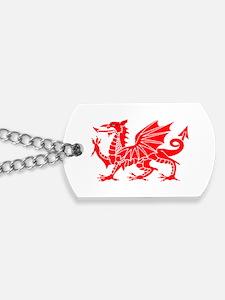 Welsh Dragon Y Ddraig Goch Dog Tags
