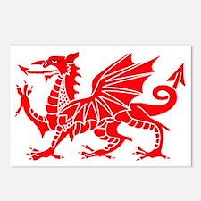Welsh Dragon Y Ddraig Goc Postcards (Package of 8)