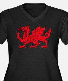 Welsh Dragon Y Ddraig Goch Plus Size T-Shirt