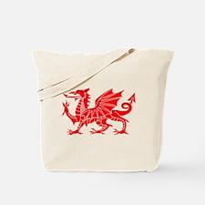Welsh Dragon Y Ddraig Goch Tote Bag
