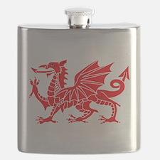 Welsh Dragon Y Ddraig Goch Flask