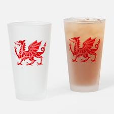 Welsh Dragon Y Ddraig Goch Drinking Glass