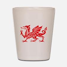 Welsh Dragon Y Ddraig Goch Shot Glass