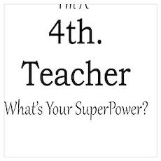 4th. Grade Teacher Poster