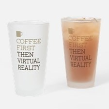 Coffee Then Virtual Reality Drinking Glass