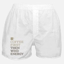 Coffee Then Wind Energy Boxer Shorts