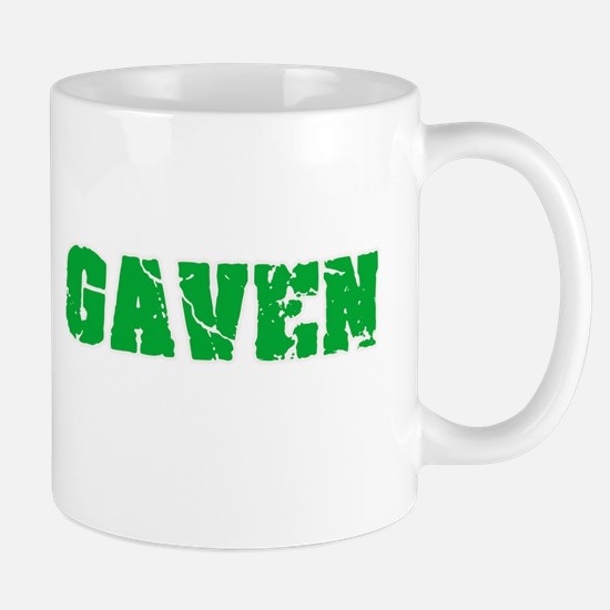 Gaven Name Weathered Green Design Mugs