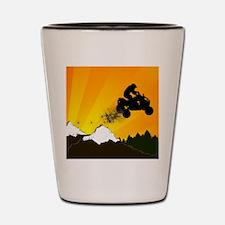 sunset atv Shot Glass