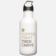 Coffee Then Carve Water Bottle