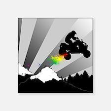 atv rainbow dirt trail Sticker