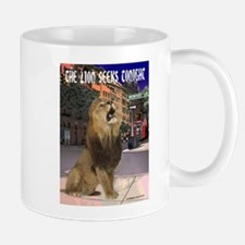 The Lion Seeks Tonight Mugs