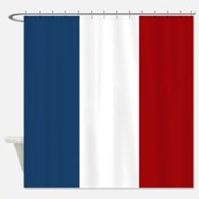 French Flag Shower Curtain