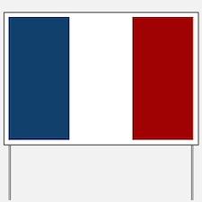 French Flag Yard Sign