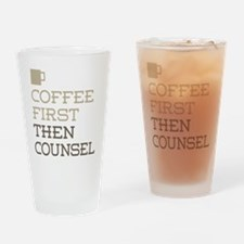 Coffee Then Counsel Drinking Glass
