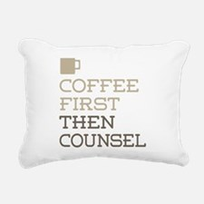 Coffee Then Counsel Rectangular Canvas Pillow