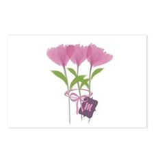 Custom Cute Pink Watercolor Peonies Postcards (Pac