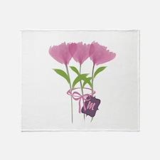 Cool Bright Monogram Throw Blanket