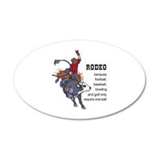 RODEO REQUIRES TWO Wall Decal