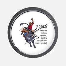RODEO REQUIRES TWO Wall Clock
