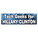 Tech Geeks for Hillary Clinton bumpersticker