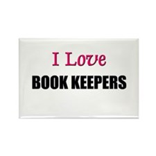 I Love BOOK KEEPERS Rectangle Magnet