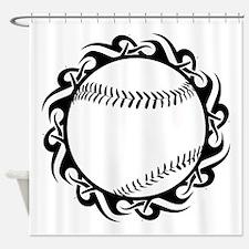 tribal baseball Shower Curtain