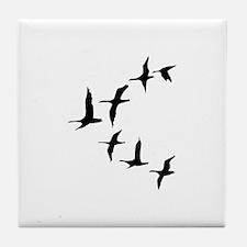 DUCKS IN FLIGHT Tile Coaster