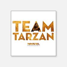 """MMXXL Team Tarzan Square Sticker 3"""" x 3"""""""