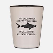 Cute Sharks Shot Glass