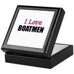 I Love BOATMEN Keepsake Box
