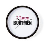 I Love BOATMEN Wall Clock
