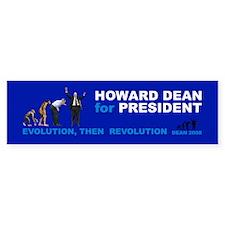 EVOLUTION, THEN REVOLUTION Bumper Bumper Sticker