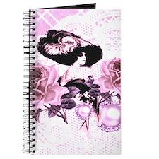 Vintage Lady Pink Lace Roses & Rhinestones Jou