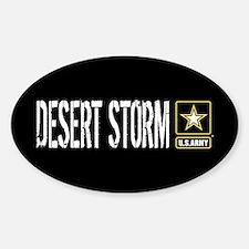 U.S. Army: Desert Storm (Black) Sticker (Oval)