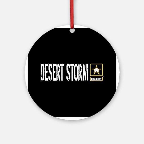 U.S. Army: Desert Storm (Black) Round Ornament